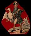 A hunter, with a gun under his arm, carrying a goose by the Wellcome V0040793.jpg
