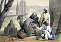 A print from 1845 shows cowry shells being used as money by an Arab trader.jpg