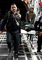 A rescued person on stretcher is being boarded to an Indian Air Force Transport Aircraft by Indian Air Force officials from Kathmandu to Delhi on April 29, 2015.jpg