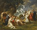 A scene from classical mythology, possibly Ceryx and Alcyone By Charles Meynier.jpg