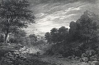 A scene in Oxwich bay, Glamorganshire: twilight