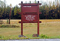 A sign at the entrance to Kraft Range Hand Grenade Qualification Range makes visitors aware that it is named in honor of U.S. Army Pvt. George J. Kraft on Joint Base Elmendorf-Richardson, Alaska, Sept 120920-F-LX370-506.jpg