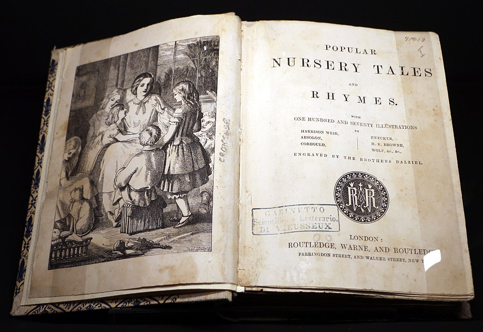 Aa.vv., popular nursery tales and rhymes, warner & routledge, londra 1859 ca. (gabinetto vieusseux)