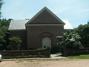 National Register of Historic Places listings in Gloucester County, Virginia - Image: Abingdon Church entrance