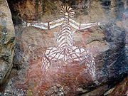 Aboriginal rock art in Kakadu National Park