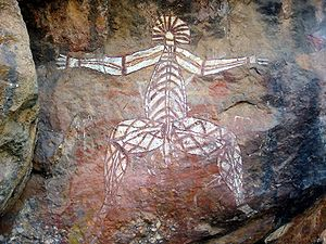 English: Aboriginal Rock Art, Anbangbang Rock ...