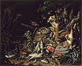 Abraham Mignon - Nest of finches, fish, reptiles and a dead squirrel on a forest floor.jpg