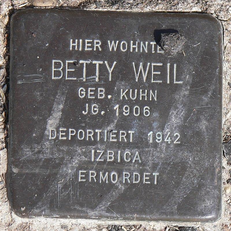 Acholshausen Stolperstein Weil, Betty.jpg