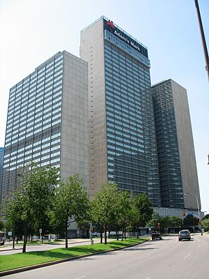 Sheraton Dallas Hotel - The Sheraton Dallas Hotel pictured as the former Adam's Mark