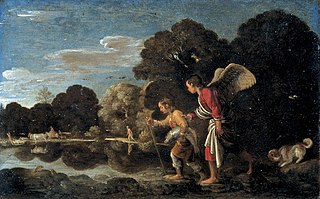 The angel and Tobias with the fish