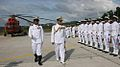 Admiral Nirmal Verma reviews Guard of Honour on arrival at INS Baaz.JPG