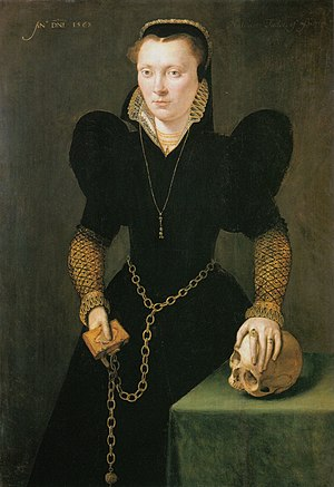 Adriaen van Cronenburg - Adriaen van Cronenburg, portrait of Katheryn of Berain, 1568, National Museum Cardiff.