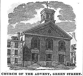 Richard Bond (architect) - Image: Advent Green St Boston Homans Sketches 1851