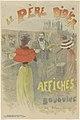 Affiche voor le Père Didier, boekhandelaar en verkoper van affiches Le Père Didier affiches et bouquins (titel op object), RP-P-2015-26-2119.jpg