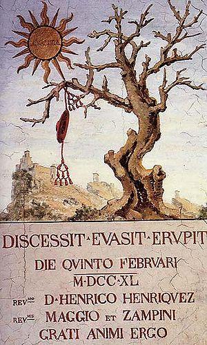 Giulio Alberoni - Fresco against Card. Alberoni Public Palace San Marino