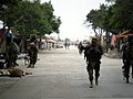 Afghan soldiers patrol a community in the Ghazni province of Afghanistan Aug. 3, 2010, during an air assault operation in support of Operation Shamshir 100803-A-UH219-003.jpg