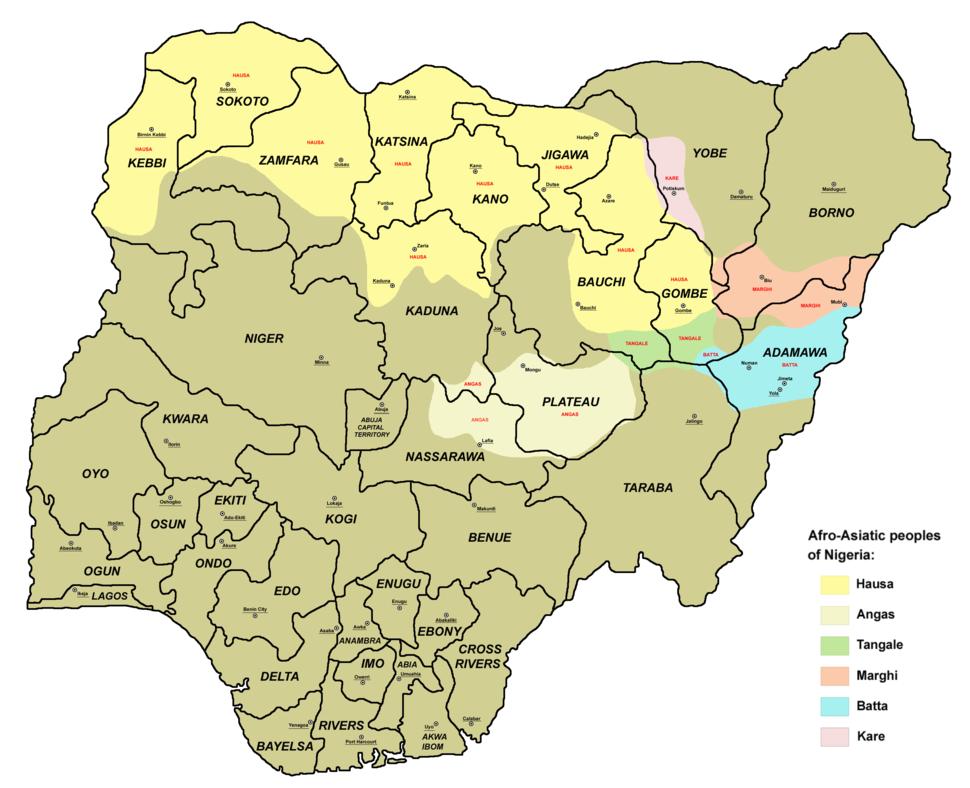 Afro asiatic peoples nigeria