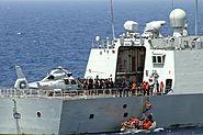 Aft-deck of the PLAN frigate Yi Yang (FF 548)
