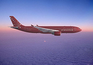 An Aibus A330-200 of Air Greenland