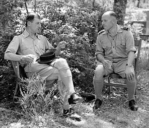 William Dickson (RAF officer) - Portal and Dickson in Italy in 1944