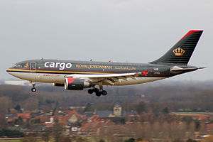 Oneworld - A Royal Jordanian Cargo Airbus A310-300F in Belgium.