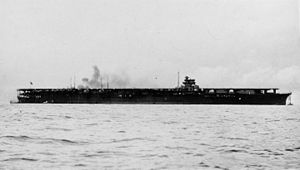 The Shōkaku shortly after completion in August of 1941.