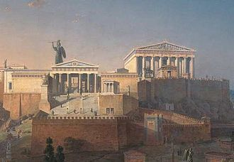 Paganism - Reconstruction of the Parthenon, on the Acropolis of Athens, Greece