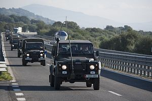 Albanian Armed Forces - Convoy transfer of Albanian Army.