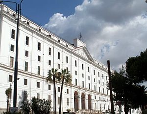 San Carlo all'Arena - The recently (2006) restored façade of the Albergo dei Poveri in Naples.