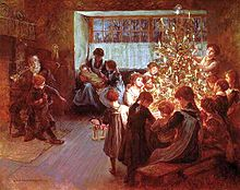 the christmas tree 1911 by albert chevallier tayler - The Christmas Tree