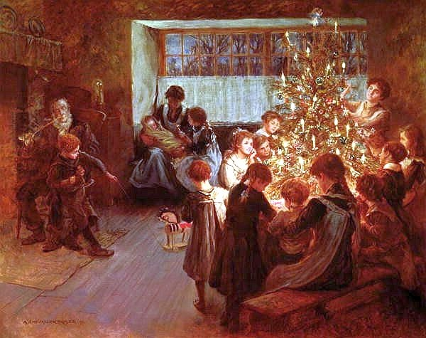 Albert Chevallier Tayler - The Christmas Tree 1911