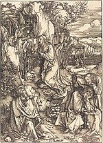 Albrecht Dürer, Christ on the Mount of Olives, c. 1497-1499, NGA 6686.jpg