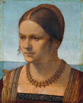 Albrecht Dürer - Bildnis einer jungen Venezianerin - Google Art Project.jpg