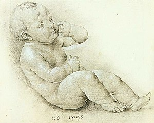 Albrecht Dürer - Study of the Christ Child - W...