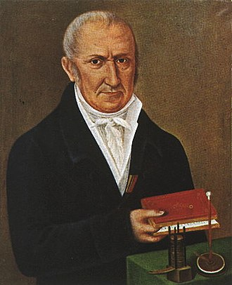 Invention - Alessandro Volta with the first electrical battery. Volta is recognized as one of the most influential inventors of all time.