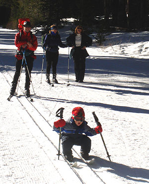 Alex age 2 tries out crosscountry skiing near ...