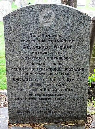 Alexander Wilson (ornithologist) - Image: Alexander Wilson monument, Philadelphia