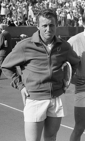 Alfred Huber (tennis) - Alfred Huber in 1957