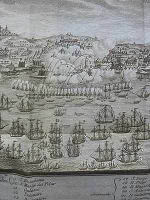 Bombardment of Algiers (1783) - Excerpt of view of bombardment under Antonio Barceló.
