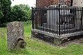 All Saints Church, Nazeing, Essex, England ~ churchyard fenced table tomb.JPG