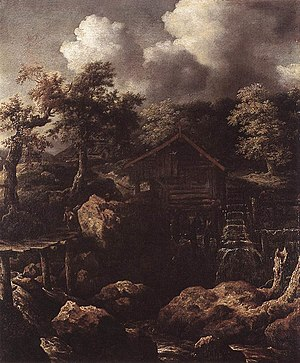 Allaert van Everdingen - Image: Allaert van Everdingen Forest Scene with Water Mill WGA7558