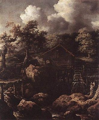 Allaert van Everdingen - Image: Allaert van Everdingen Forest Scene with Water Mill WGA7558