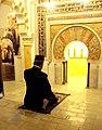 Allama Iqbal praying in a Mosque.JPG