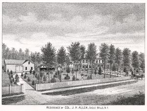 Joseph H. Allen - Allen's home in Eagle Mills, which still stands today