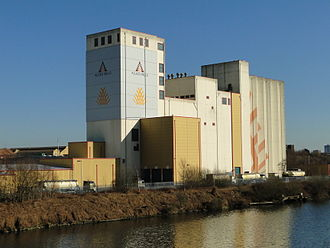 Gristmill - Allied Mills flour mill on the banks of the Manchester Ship Canal