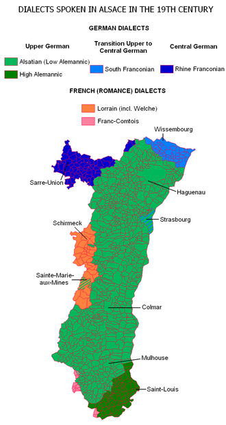 Alsatian dialect - Image: Alsace Dialects