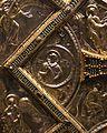 Altare di s. ambrogio, 824-859 ca., lato dx dei maestri delle storie di cristo, angeli e santi che adorano la croce gemmata 07.jpg