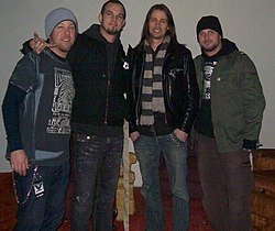 Alter Bridge, 2008 (zľava doprava) Scott Phillips, Mark Tremonti, Myles Kennedy, Brian Marshall