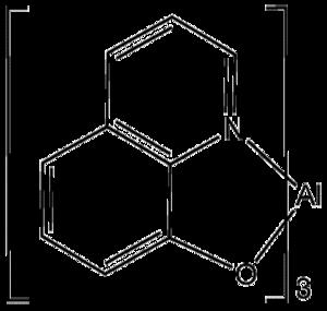 Tris(8-hydroxyquinolinato)aluminium - Image: Alum Q3
