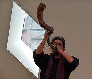 Alvin Curran - Alvin Curran playing the shofar in 2009